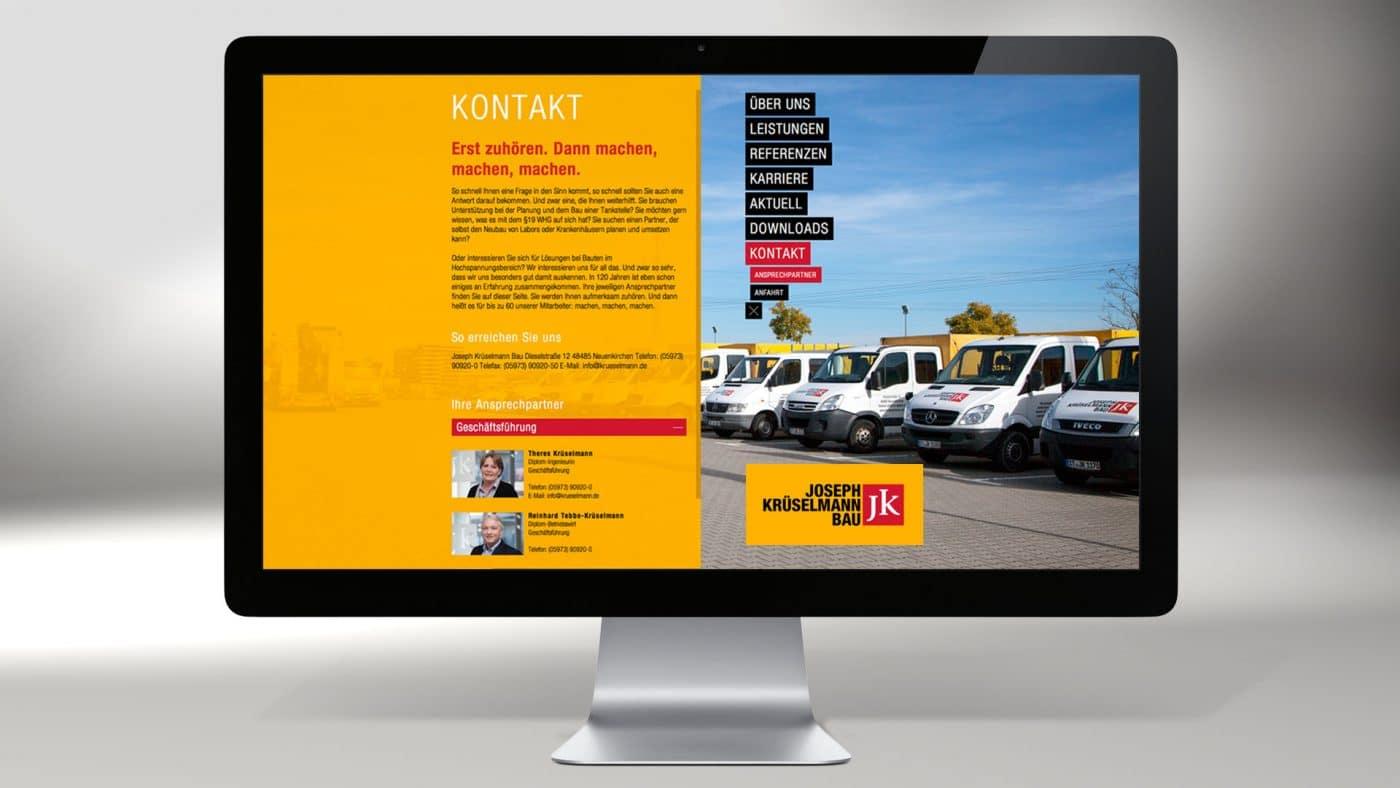 Krueselmann website 01 1 - Markenauftritt mit Charakter für eine Marke mit Persönlichkeit – Corporate Design, Logoentwicklung, Grafikdesign, Webdesign, Kommunikationsdesign, Branding, Markenentwicklung, Werbetechnik