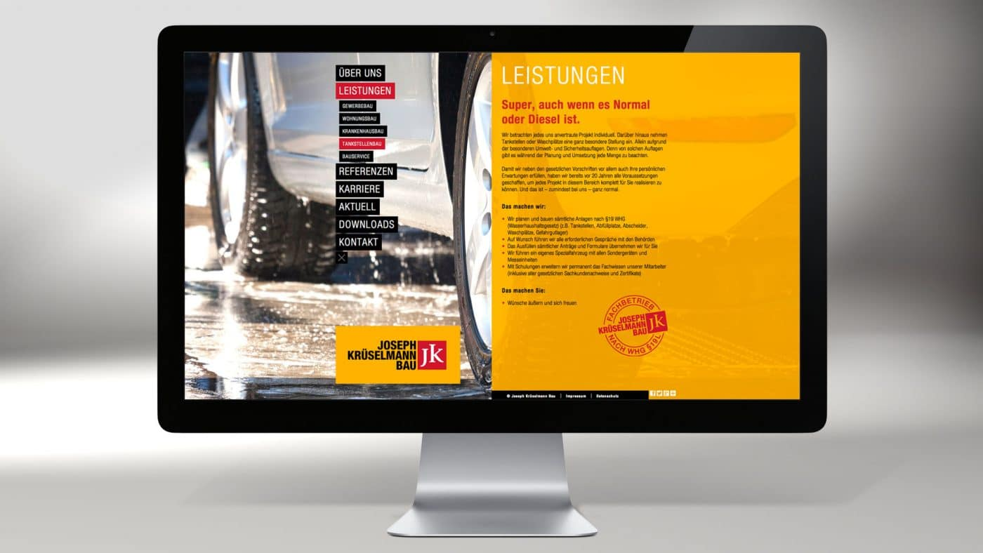 Krueselmann website 04 1 - Markenauftritt mit Charakter für eine Marke mit Persönlichkeit – Corporate Design, Logoentwicklung, Grafikdesign, Webdesign, Kommunikationsdesign, Branding, Markenentwicklung, Werbetechnik