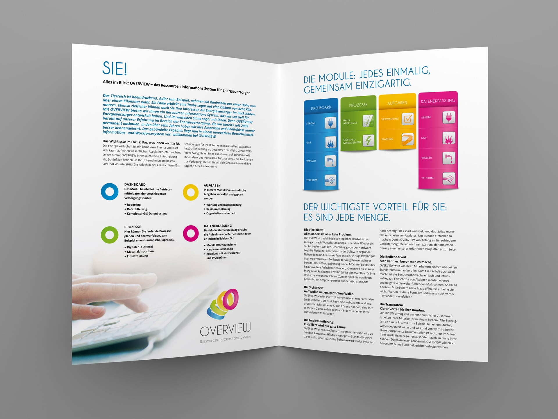 atrios flyer 02 - Werbung auf das Wesentliche fokussiert – Corporate Design, Grafikdesign, Kommunikationsdesign, Editorial Design