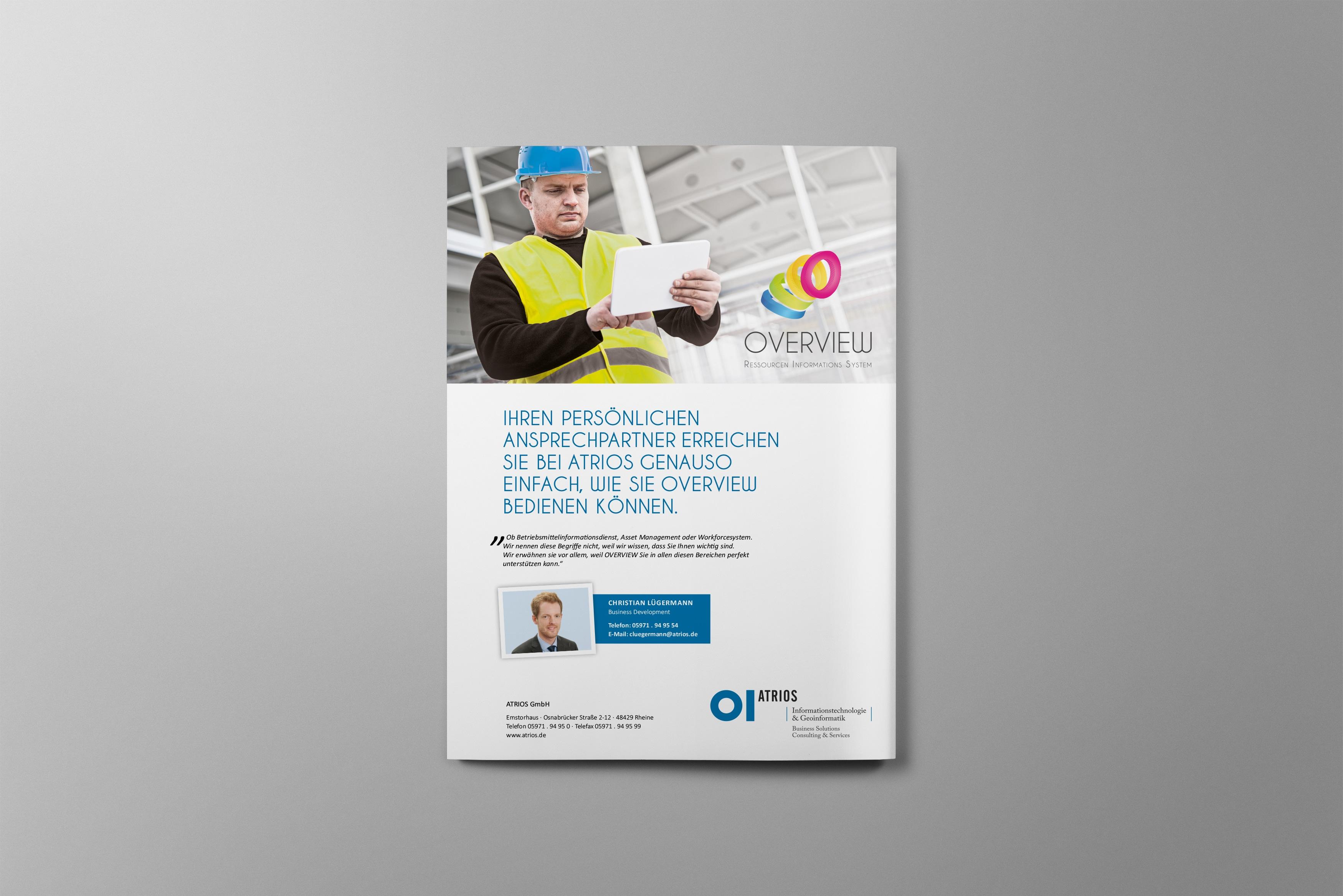 atrios flyer 03 - Werbung auf das Wesentliche fokussiert – Corporate Design, Grafikdesign, Kommunikationsdesign, Editorial Design