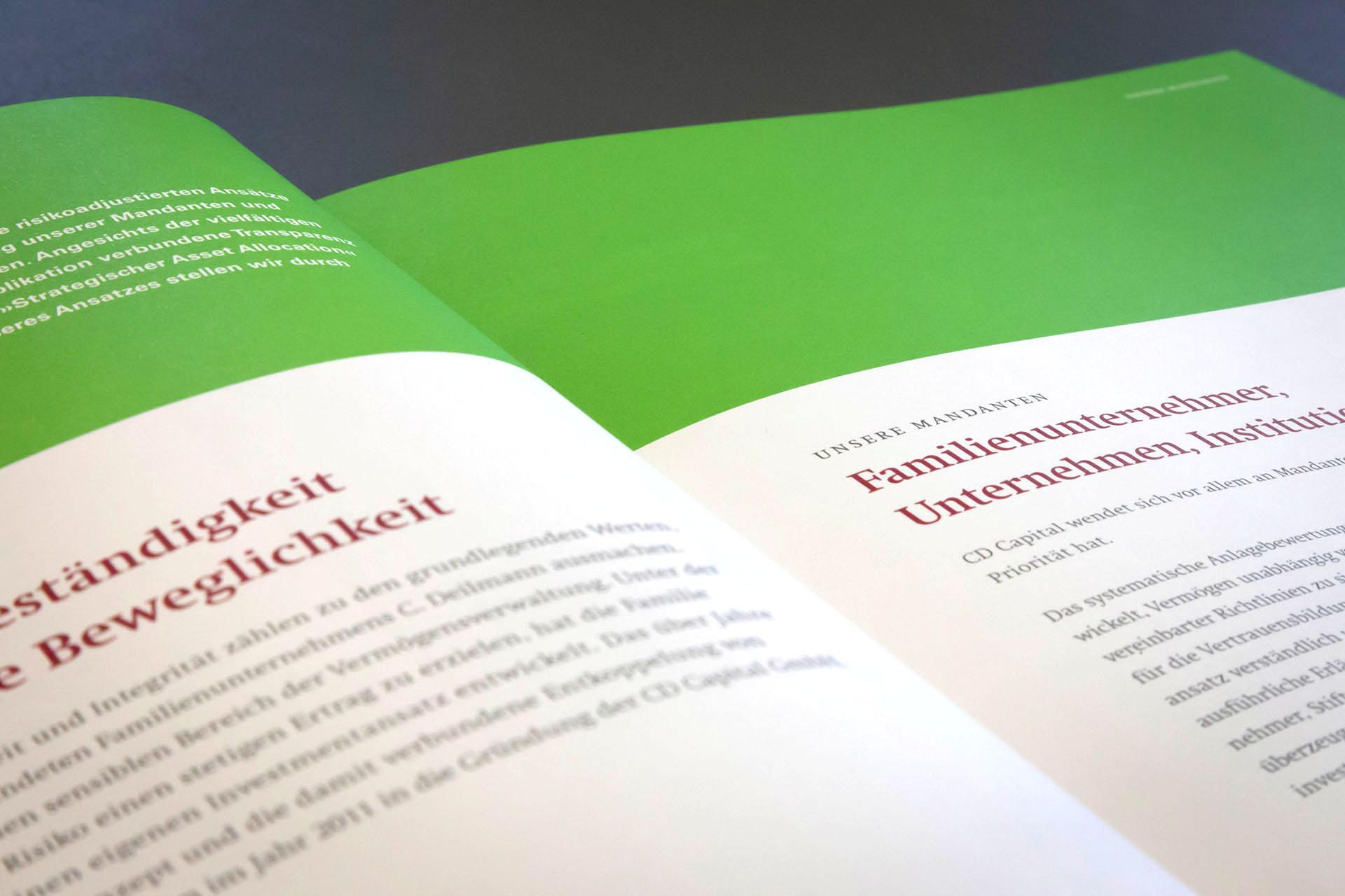 cd capital investment compendium 05 - Diskreter Auftritt mit auffallend schöner Broschüre – Corporate Design, Grafikdesign, Kommunikationsdesign, Branding, Markenentwicklung, Editorial Design