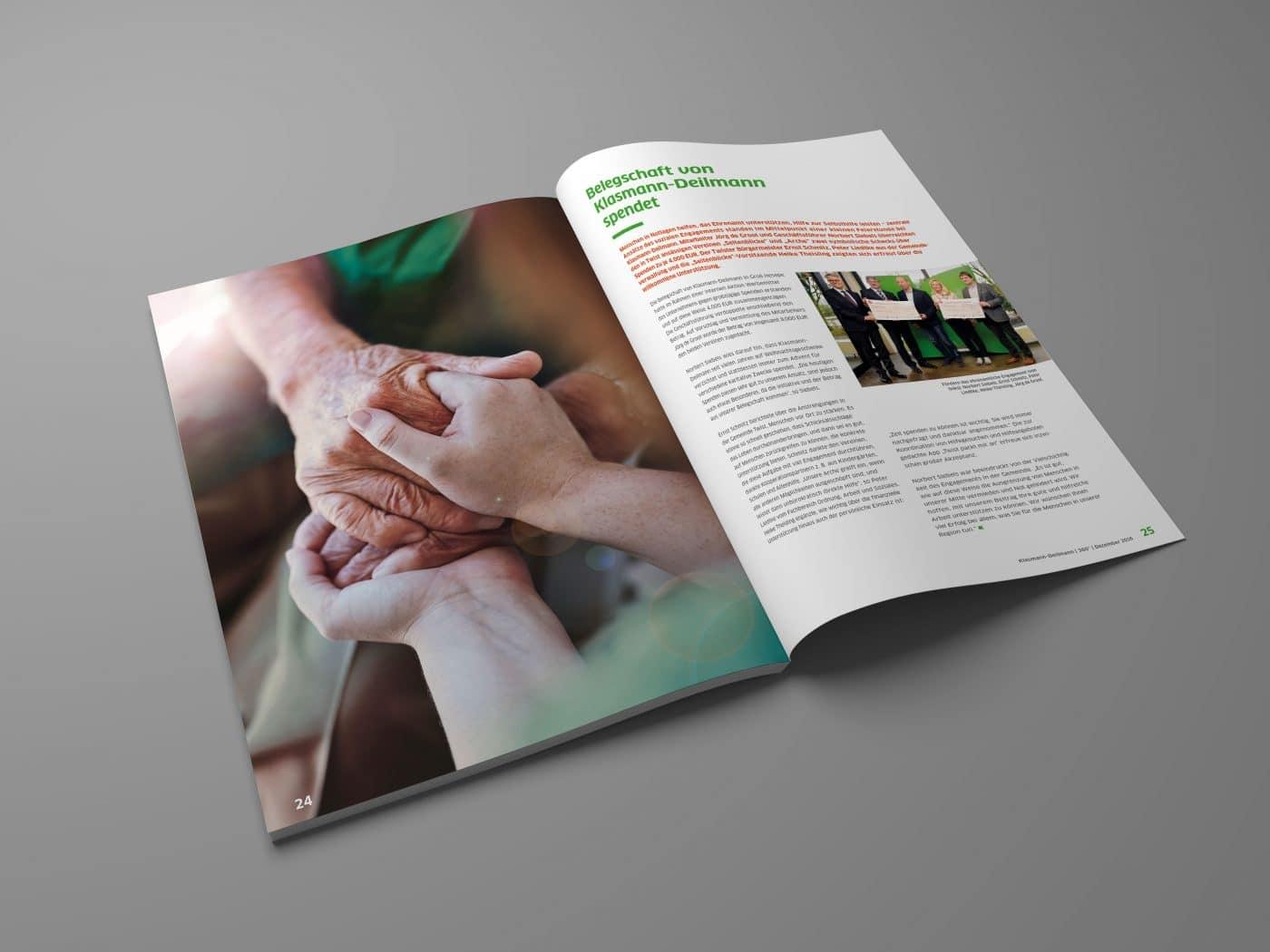 kd jahrbuch 03 - Ein rundum gelungenes Mitarbeiterjahrbuch – Corporate Design, Grafikdesign, Kommunikationsdesign, Branding, Markenentwicklung, Editorial Design