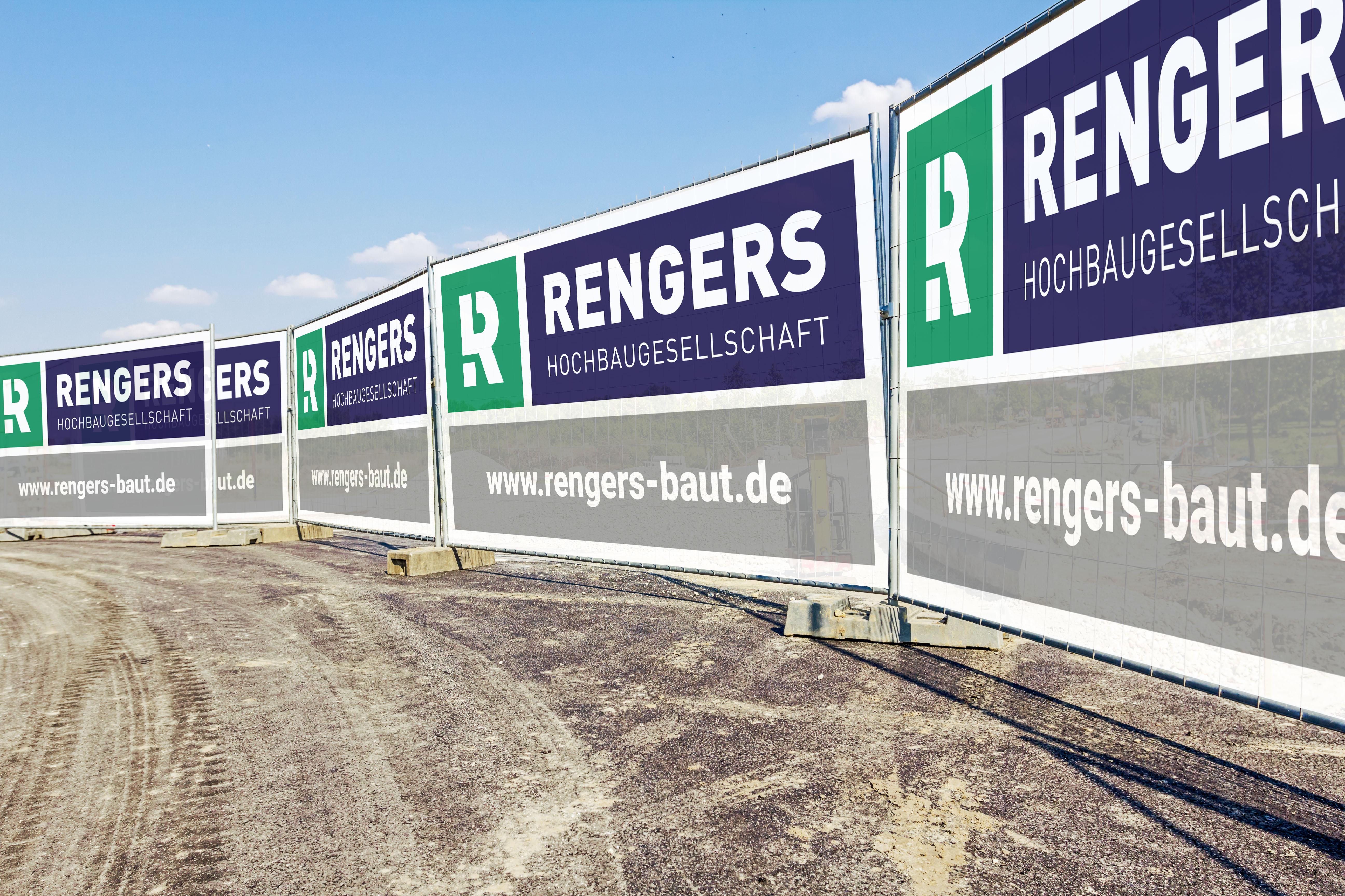 Die neue Bauzaunplane der Rengers Hochbaugesellschaft