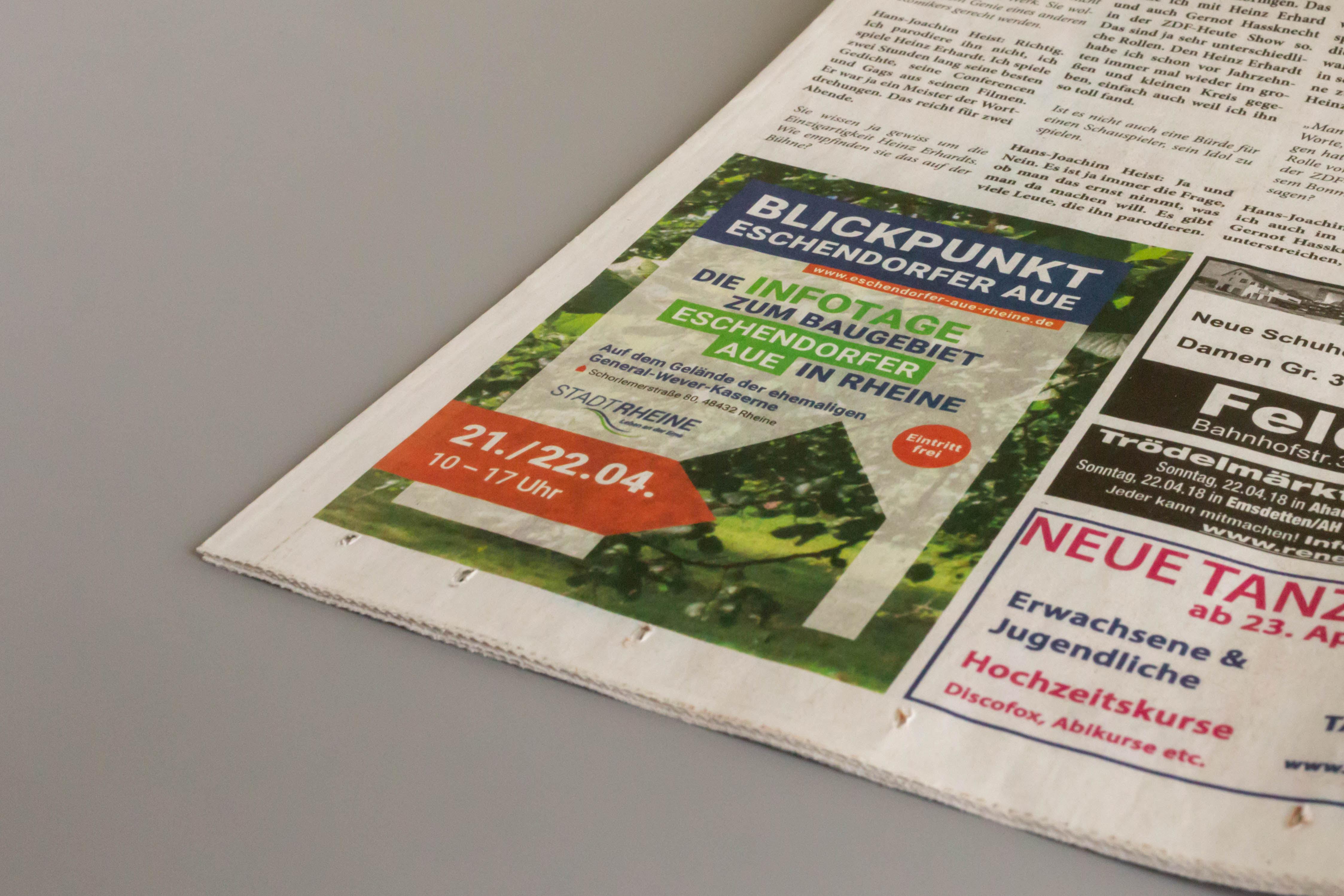 stadt rheine eschendorfer aue anzeige - Grüne Kampagne als Treffer ins Schwarze – Corporate Design, Grafikdesign, Webdesign, Kommunikationsdesign