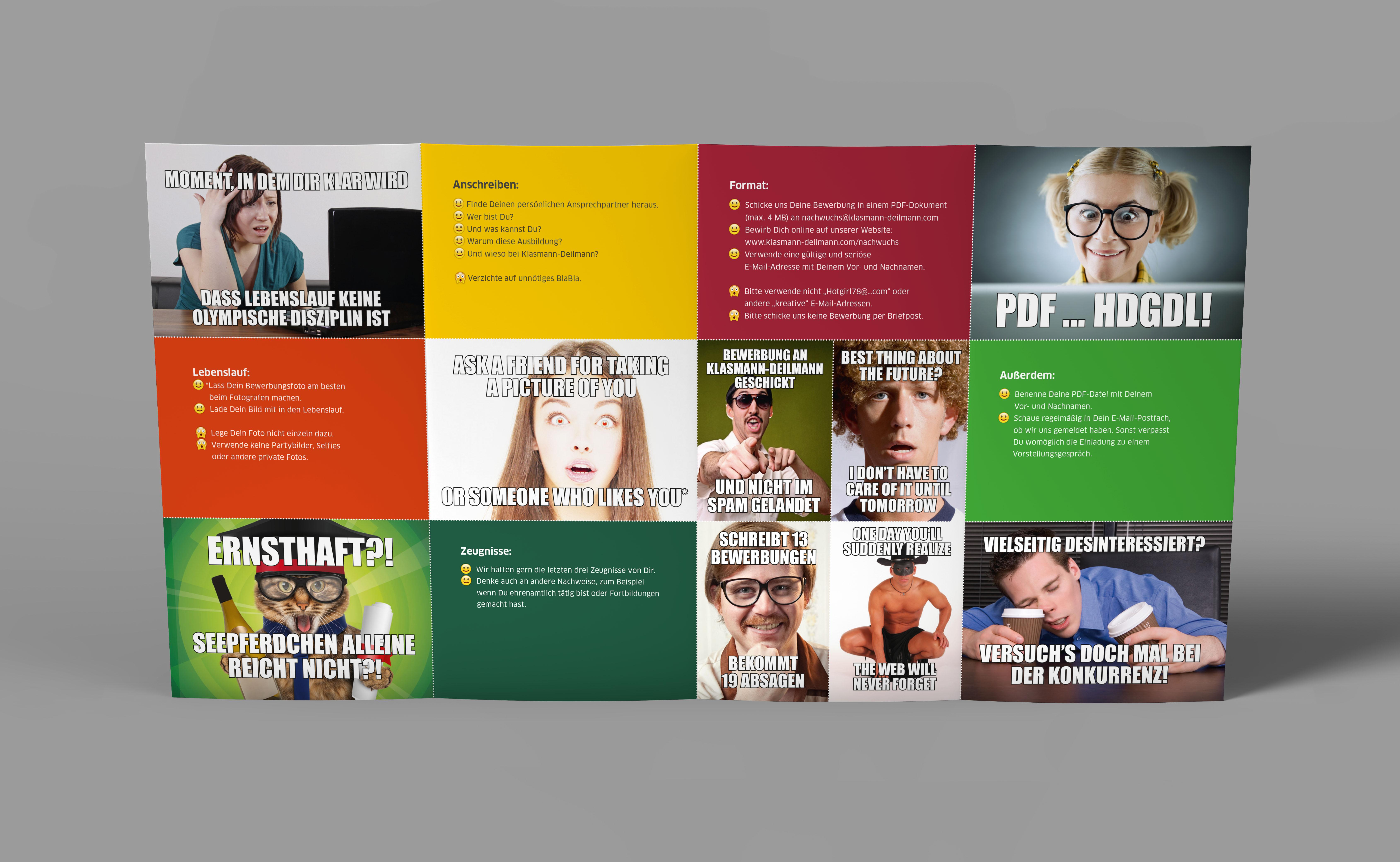 kd flyer meme 01 - Eine Zielgruppe wirbt für sich selbst – Corporate Design, Grafikdesign, Kommunikationsdesign, Branding, Markenentwicklung