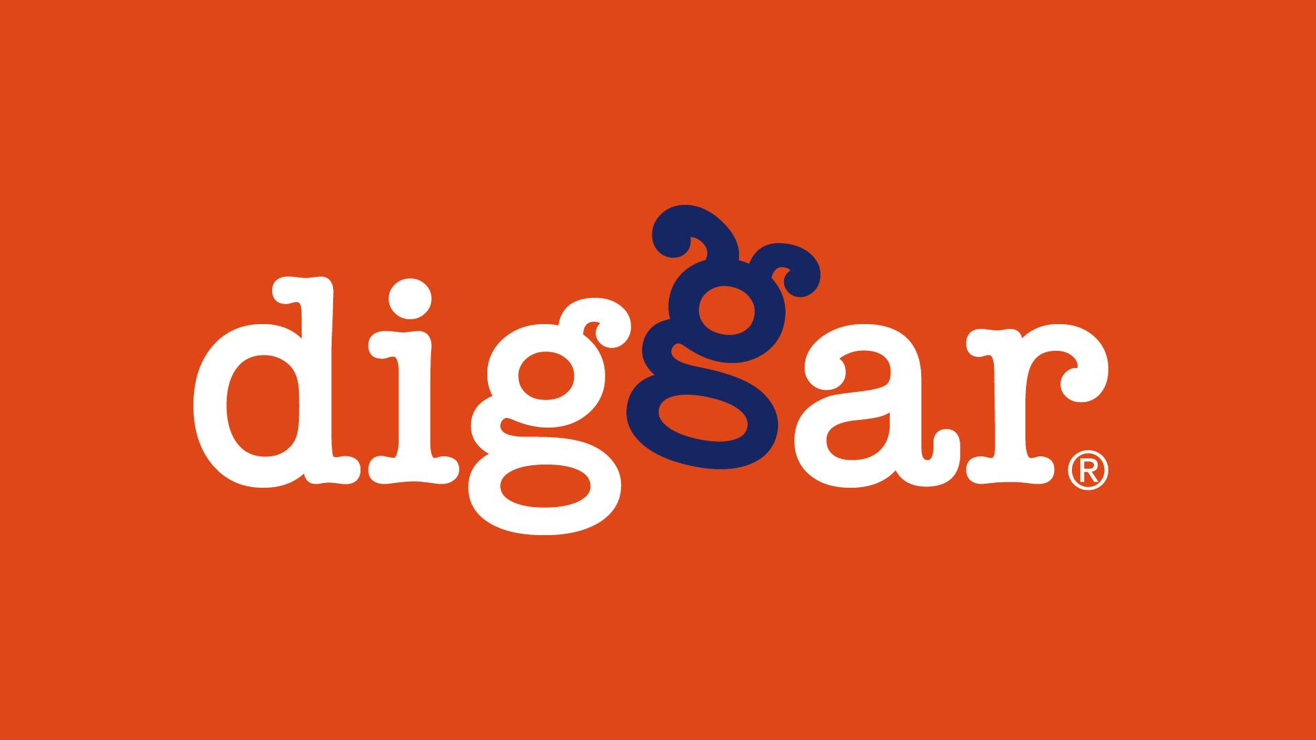 diggar logo 02 - Ein Logo mit Wau-Effekt – Corporate Design, Logoentwicklung, Grafikdesign, Kommunikationsdesign, Branding