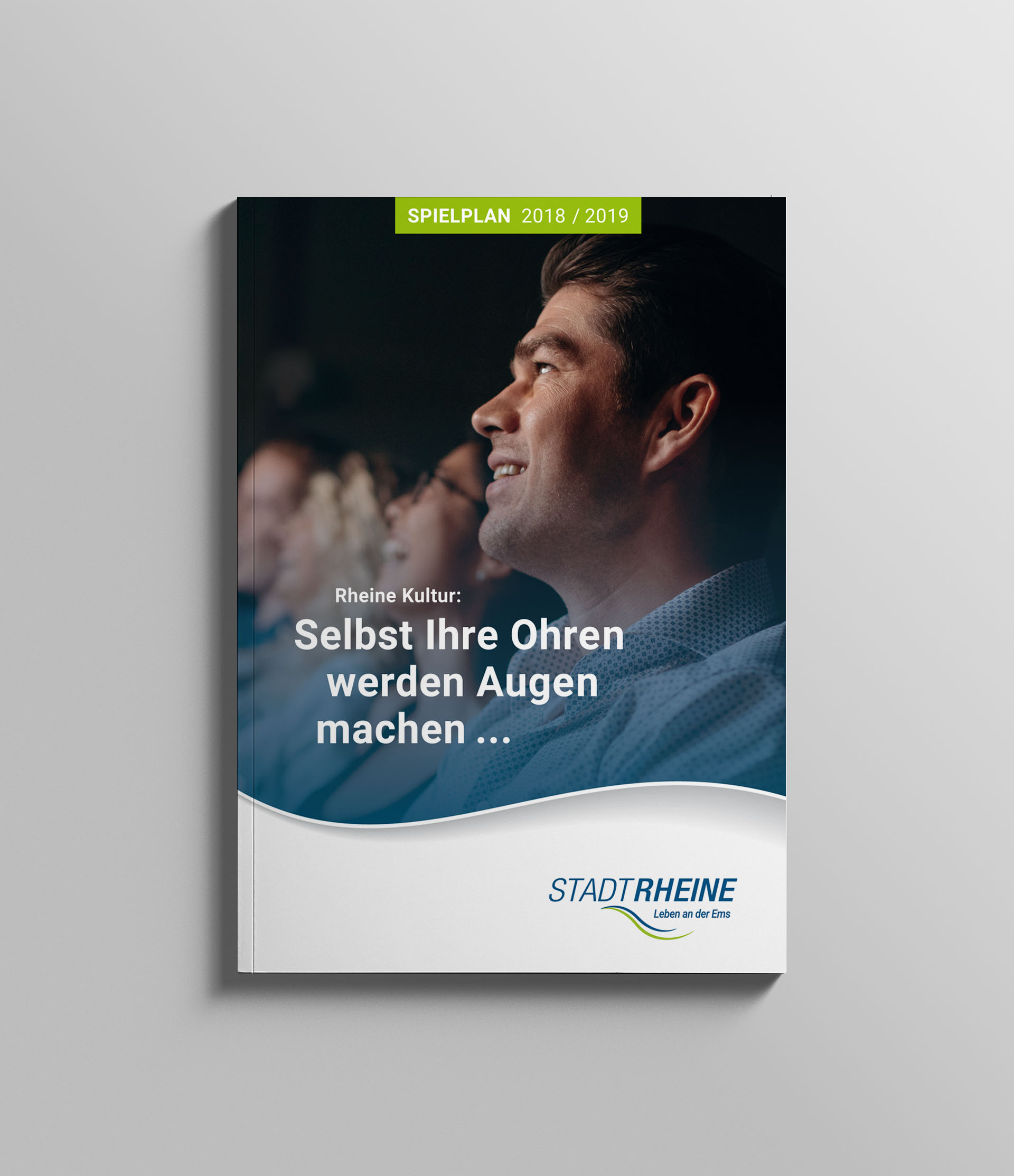 Titelseite des neu gestalteten Spielplans für die Stadt Rheine