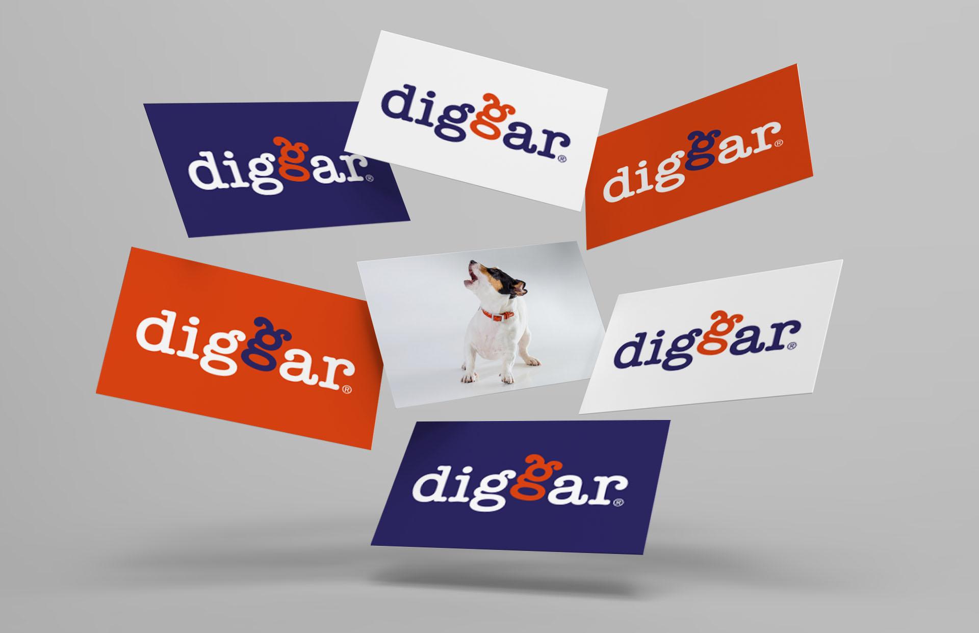 diggar logo 04 - Ein Logo mit Wau-Effekt – Corporate Design, Logoentwicklung, Grafikdesign, Kommunikationsdesign, Branding