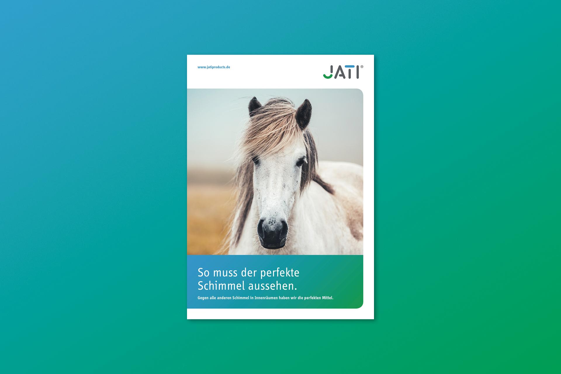 jati produktbroschuere 01 - Dem Schimmel sei Dank: Ein ganz frischer Markenauftritt für JATI – Corporate Design, Logoentwicklung, Grafikdesign