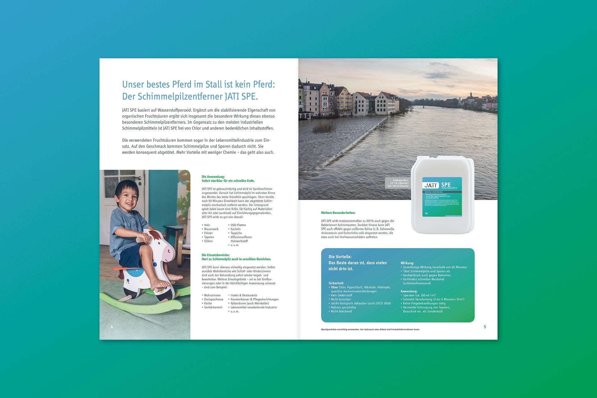 jati produktbroschuere 03 - Dem Schimmel sei Dank: Ein ganz frischer Markenauftritt für JATI – Corporate Design, Logoentwicklung, Grafikdesign