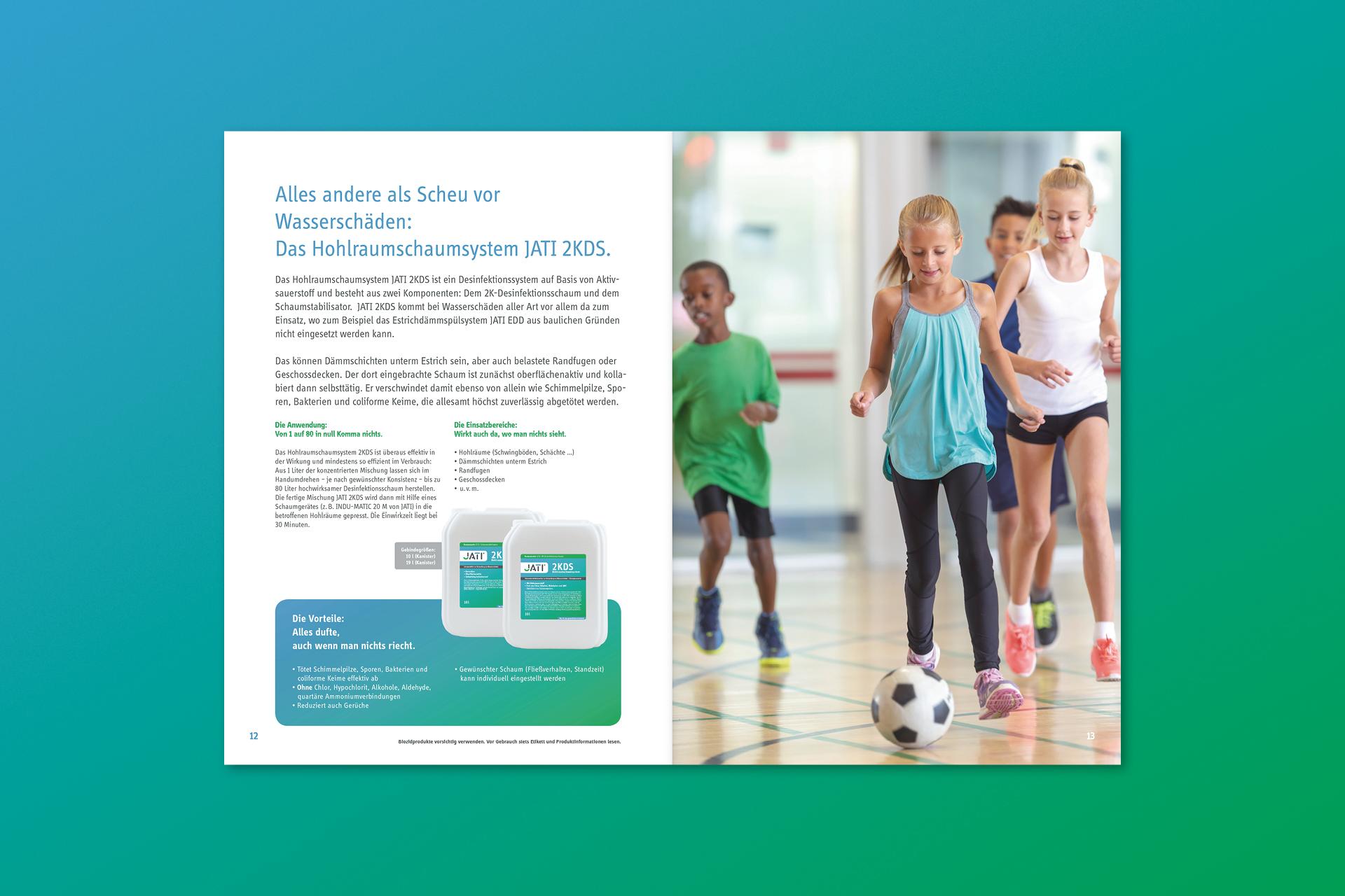 jati produktbroschuere 05 - Dem Schimmel sei Dank: Ein ganz frischer Markenauftritt für JATI – Corporate Design, Logoentwicklung, Grafikdesign