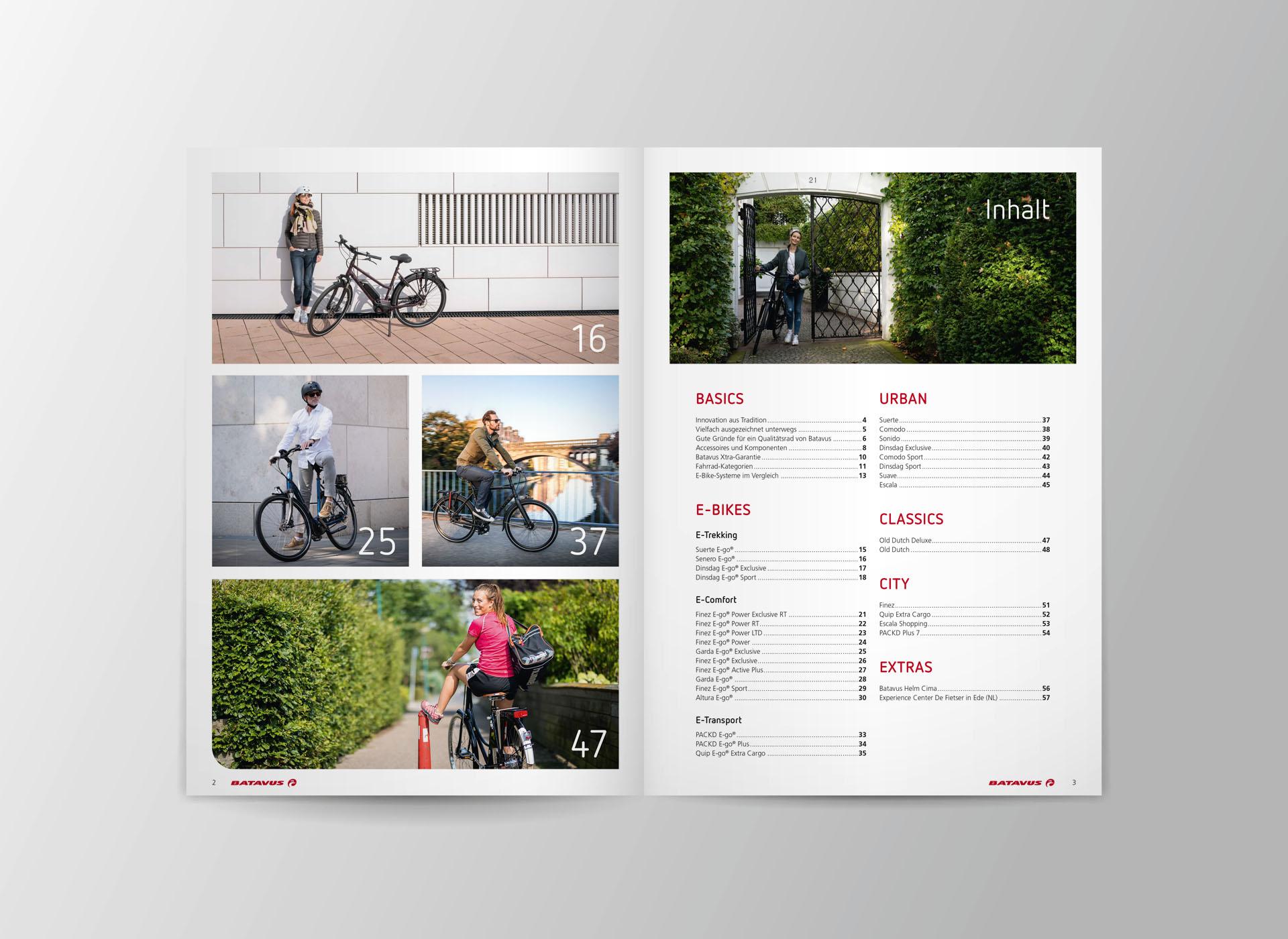 batavus produktkatalog 2021 02 - Fachlich fest im Sattel: Der Batavus Produktkatalog 2021 – Corporate Design, Grafikdesign, Kommunikationsdesign, Branding, Markenentwicklung, Editorial Design